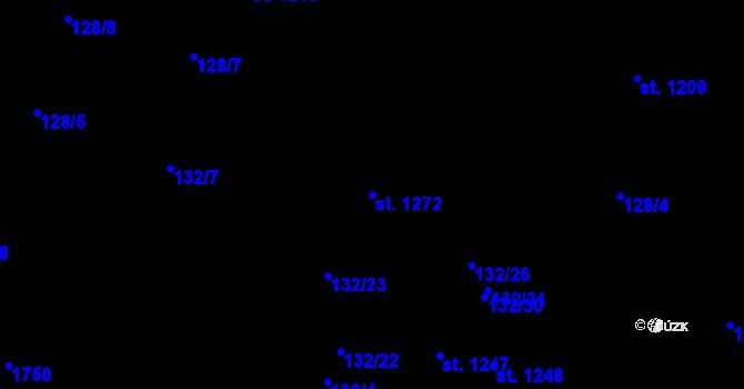 Parcela st. 1272 v k.ú. Nová Role, Katastrální mapa