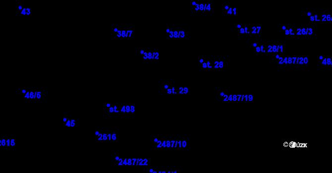 Parcela st. 29 v k.ú. Nová Říše, Katastrální mapa
