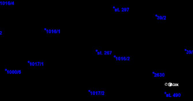 Parcela st. 267 v k.ú. Nová Říše, Katastrální mapa