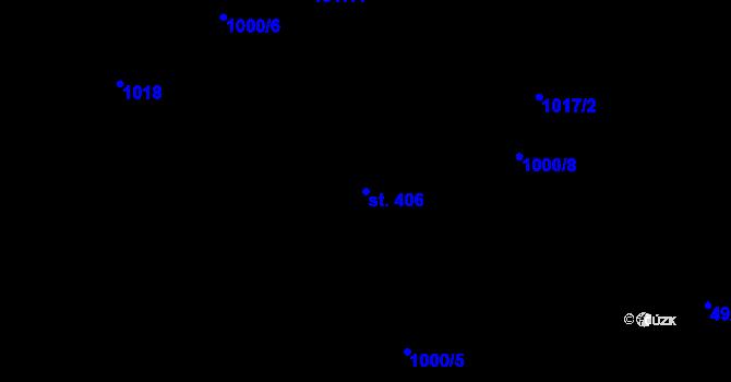 Parcela st. 406 v k.ú. Nová Říše, Katastrální mapa