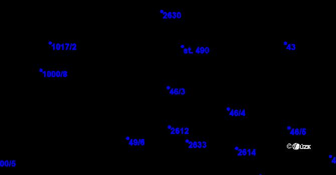 Parcela st. 46/3 v k.ú. Nová Říše, Katastrální mapa