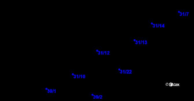 Parcela st. 31/12 v k.ú. Nová Ves, Katastrální mapa