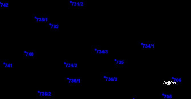 Parcela st. 734/3 v k.ú. Nová Ves nad Nisou, Katastrální mapa