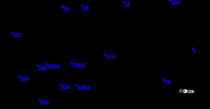 Parcela st. 17/1 v k.ú. Nová Ves u Nového Města na Moravě, Katastrální mapa