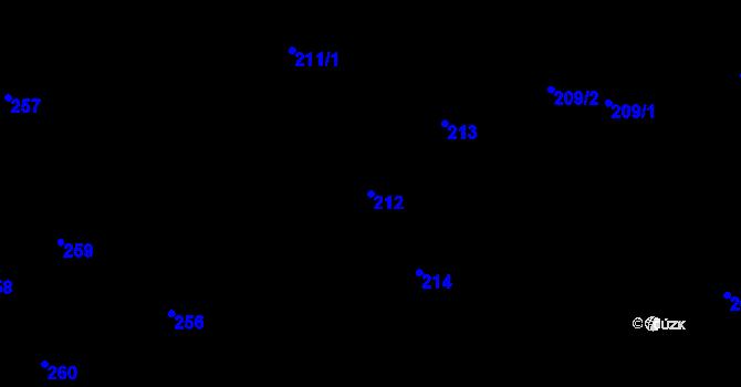 Parcela st. 212 v k.ú. Nová Ves u Nového Města na Moravě, Katastrální mapa