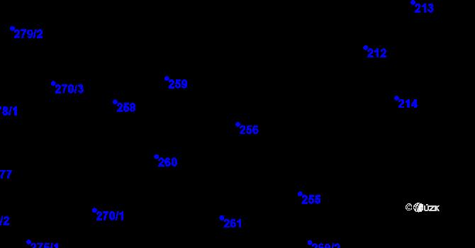 Parcela st. 256 v k.ú. Nová Ves u Nového Města na Moravě, Katastrální mapa
