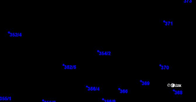 Parcela st. 354/2 v k.ú. Nová Ves u Nového Města na Moravě, Katastrální mapa