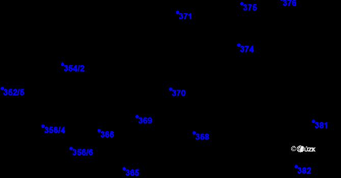 Parcela st. 370 v k.ú. Nová Ves u Nového Města na Moravě, Katastrální mapa