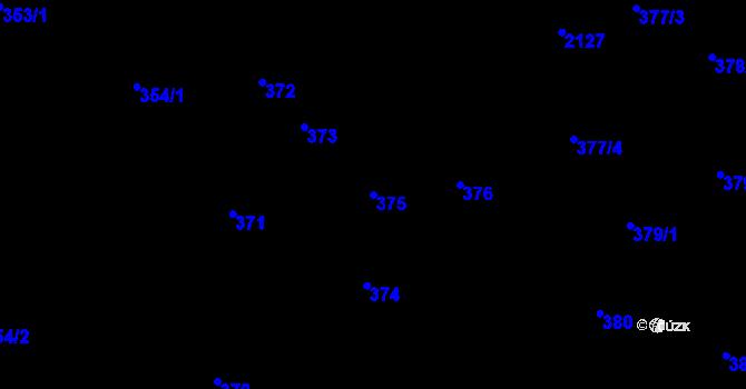 Parcela st. 375 v k.ú. Nová Ves u Nového Města na Moravě, Katastrální mapa