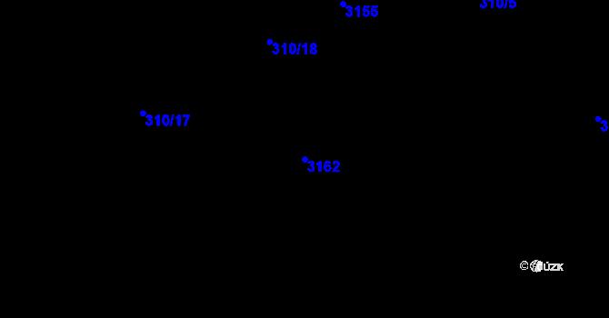 Parcela st. 3162 v k.ú. Nové Strašecí, Katastrální mapa