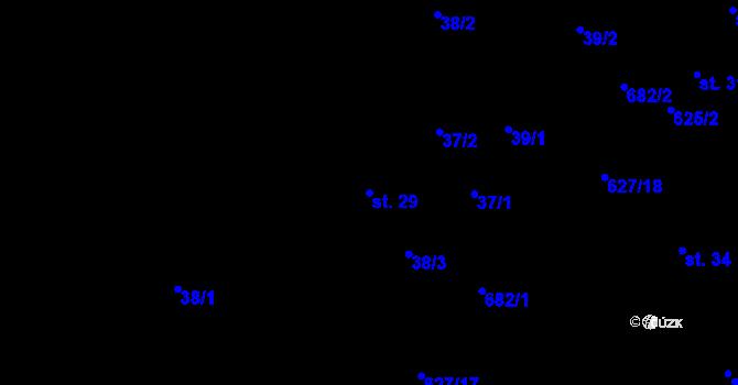 Parcela st. 29 v k.ú. Svatý Jiří, Katastrální mapa