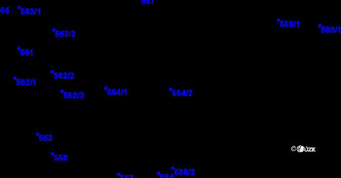 Parcela st. 564/2 v k.ú. Olešnice na Moravě, Katastrální mapa