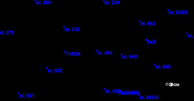 Parcela st. 661 v k.ú. Olomouc-město, Katastrální mapa