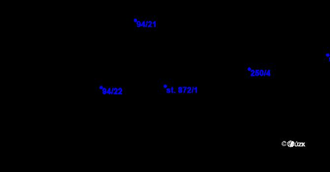 Parcela st. 872/1 v k.ú. Olomouc-město, Katastrální mapa