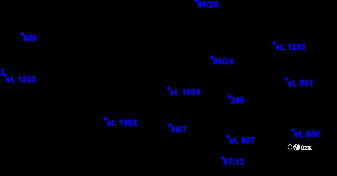 Parcela st. 1924 v k.ú. Olomouc-město, Katastrální mapa