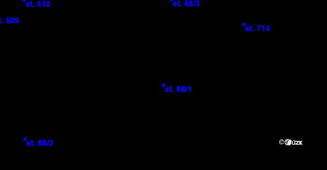 Parcela st. 68/1 v k.ú. Nová Ulice, Katastrální mapa
