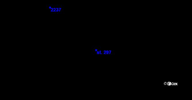 Parcela st. 297 v k.ú. Nová Ulice, Katastrální mapa