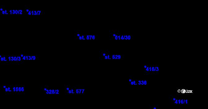 Parcela st. 529 v k.ú. Nová Ulice, Katastrální mapa