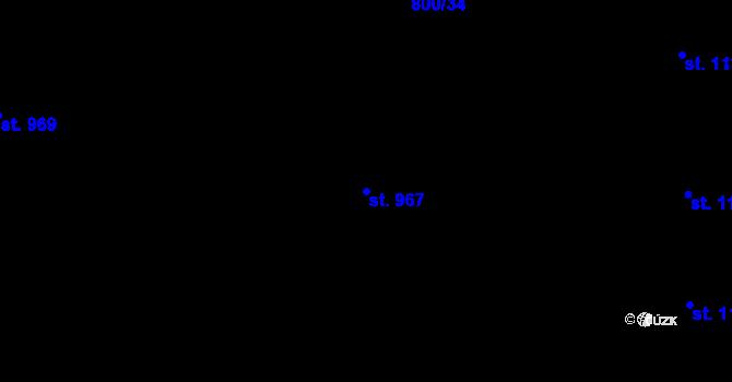 Parcela st. 967 v k.ú. Nová Ulice, Katastrální mapa