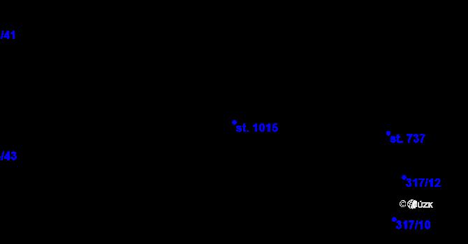 Parcela st. 1015 v k.ú. Nová Ulice, Katastrální mapa