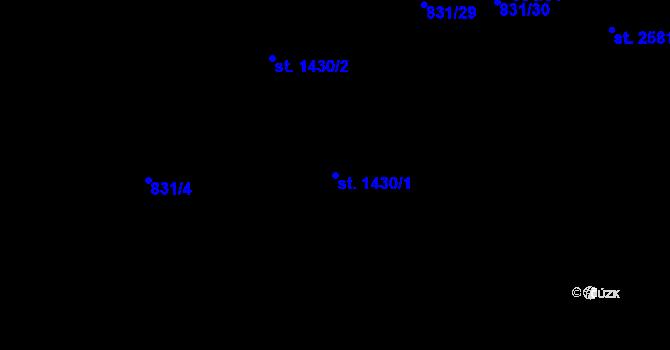 Parcela st. 1430/1 v k.ú. Nová Ulice, Katastrální mapa