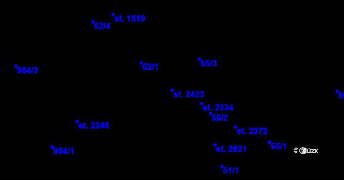 Parcela st. 2423 v k.ú. Nová Ulice, Katastrální mapa