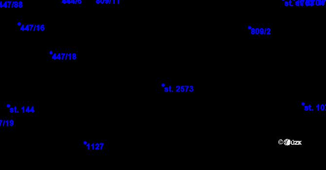Parcela st. 2573 v k.ú. Nová Ulice, Katastrální mapa