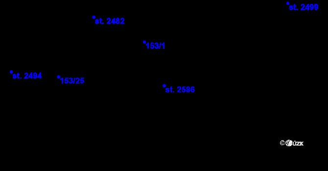 Parcela st. 2586 v k.ú. Nová Ulice, Katastrální mapa