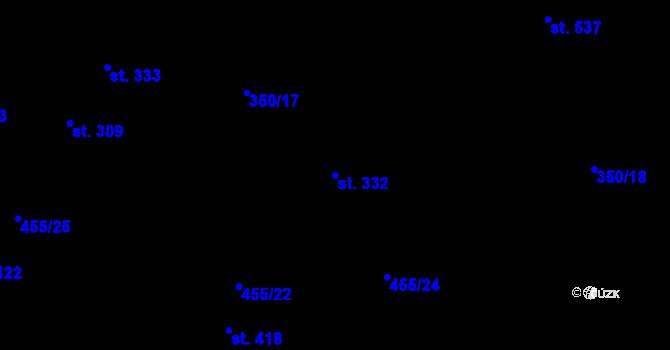 Parcela st. 332 v k.ú. Povel, Katastrální mapa