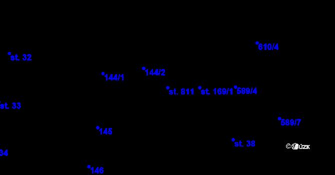 Parcela st. 811 v k.ú. Nové Sady u Olomouce, Katastrální mapa
