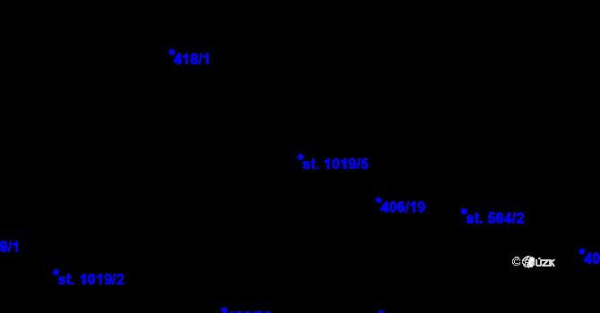 Parcela st. 1019/5 v k.ú. Hodolany, Katastrální mapa