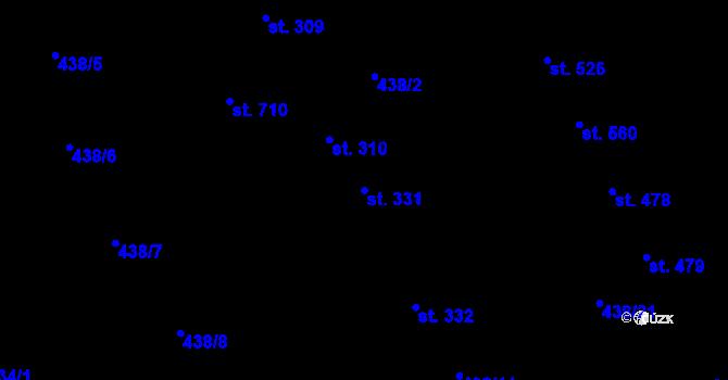 Parcela st. 331 v k.ú. Chválkovice, Katastrální mapa
