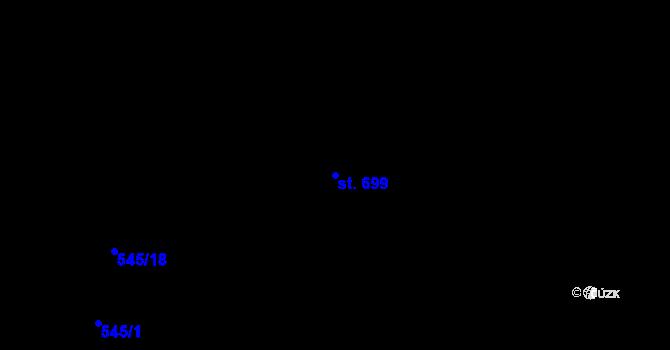 Parcela st. 699 v k.ú. Chválkovice, Katastrální mapa