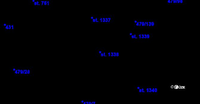 Parcela st. 1338 v k.ú. Chválkovice, Katastrální mapa