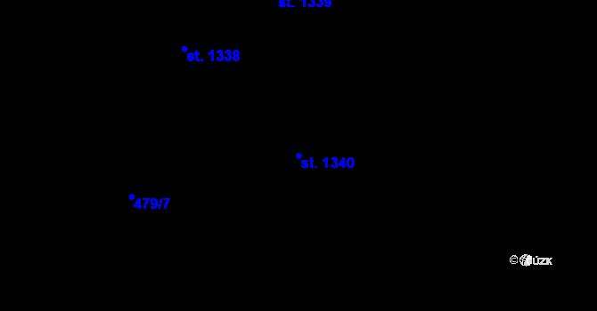 Parcela st. 1340 v k.ú. Chválkovice, Katastrální mapa