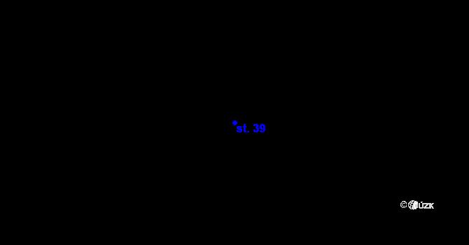 Parcela st. 39 v k.ú. Pavlovičky, Katastrální mapa