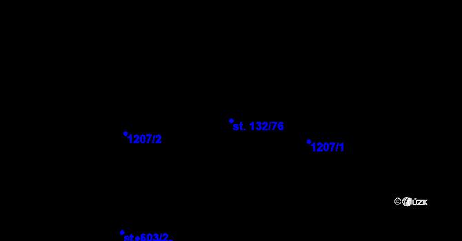 Parcela st. 132/76 v k.ú. Řepčín, Katastrální mapa