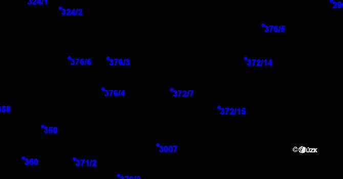 Parcela st. 372/7 v k.ú. Opava-Předměstí, Katastrální mapa