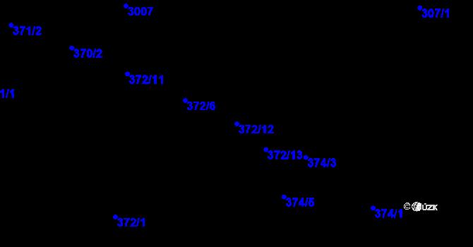 Parcela st. 372/12 v k.ú. Opava-Předměstí, Katastrální mapa