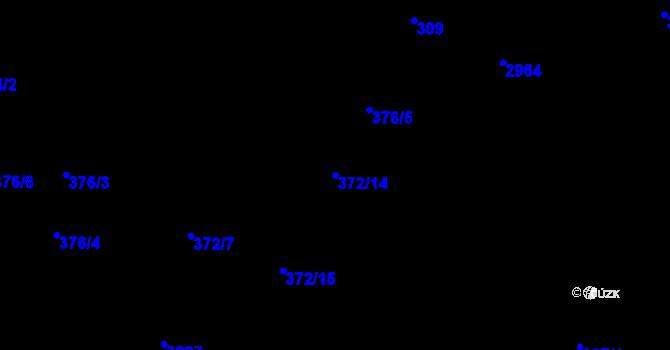 Parcela st. 372/14 v k.ú. Opava-Předměstí, Katastrální mapa