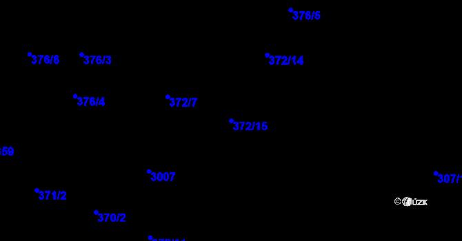 Parcela st. 372/15 v k.ú. Opava-Předměstí, Katastrální mapa