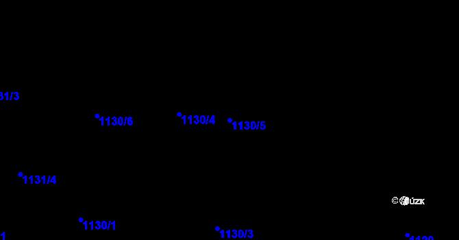 Parcela st. 1130/5 v k.ú. Jaktař, Katastrální mapa