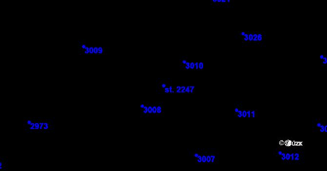 Parcela st. 2247 v k.ú. Kateřinky u Opavy, Katastrální mapa