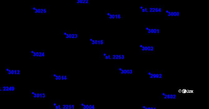 Parcela st. 2253 v k.ú. Kateřinky u Opavy, Katastrální mapa