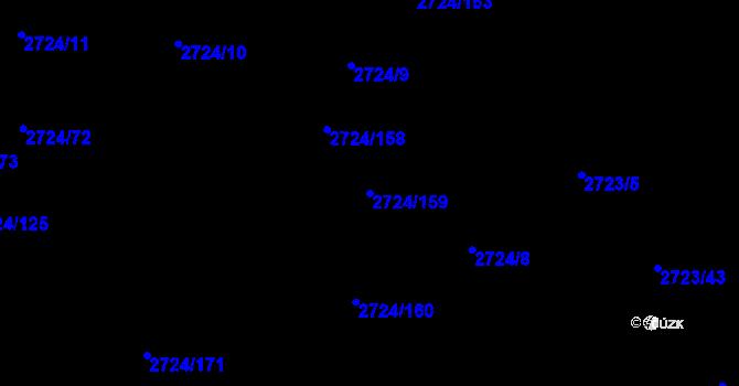 Parcela st. 2724/159 v k.ú. Kylešovice, Katastrální mapa