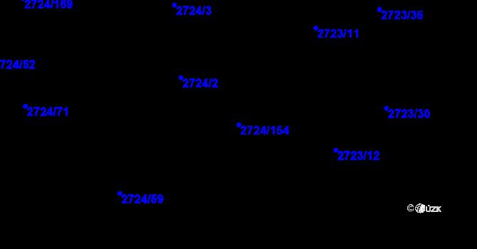 Parcela st. 2724/154 v k.ú. Kylešovice, Katastrální mapa