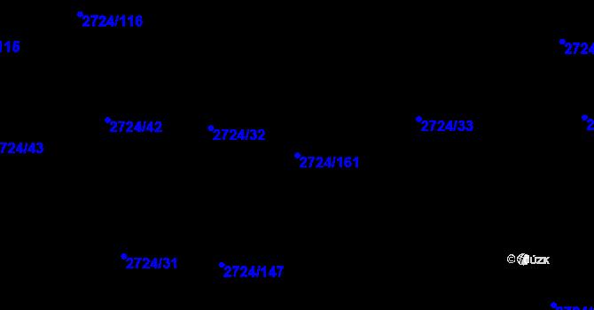 Parcela st. 2724/161 v k.ú. Kylešovice, Katastrální mapa