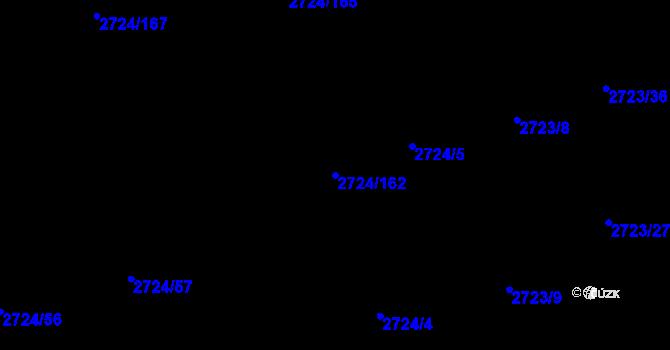 Parcela st. 2724/162 v k.ú. Kylešovice, Katastrální mapa