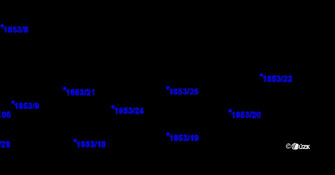 Parcela st. 1853/25 v k.ú. Kylešovice, Katastrální mapa