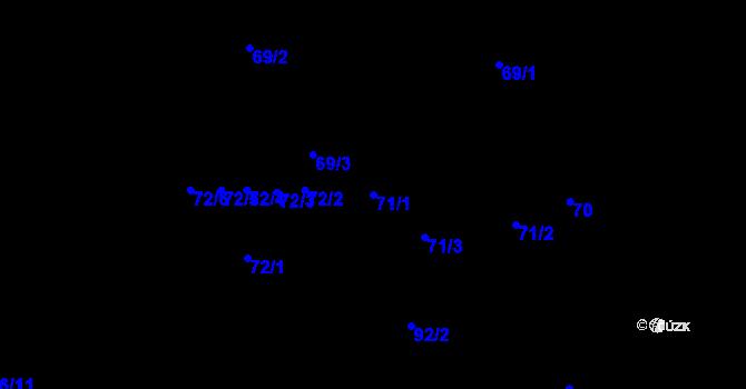 Parcela st. 71/1 v k.ú. Moravská Ostrava, Katastrální mapa